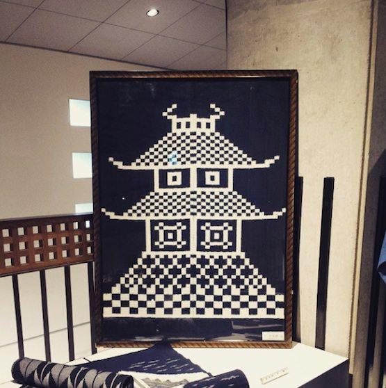 八女伝統工芸館2F お城絣