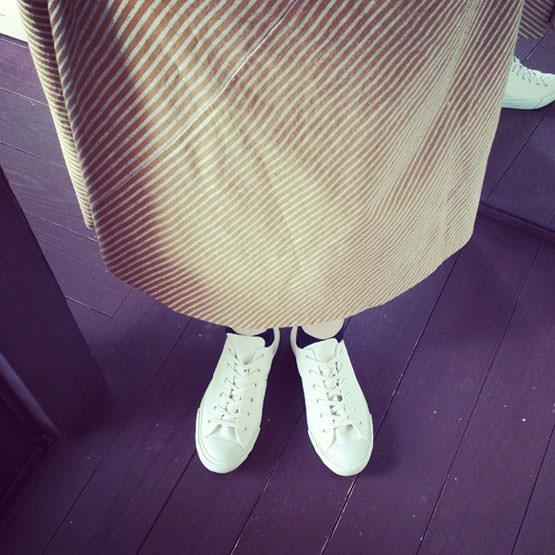 久留米絣 巻きスカート
