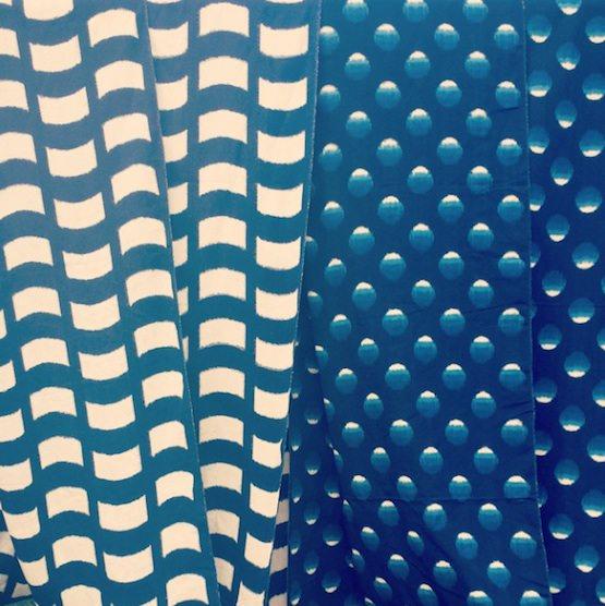 藍染め手織り久留米絣