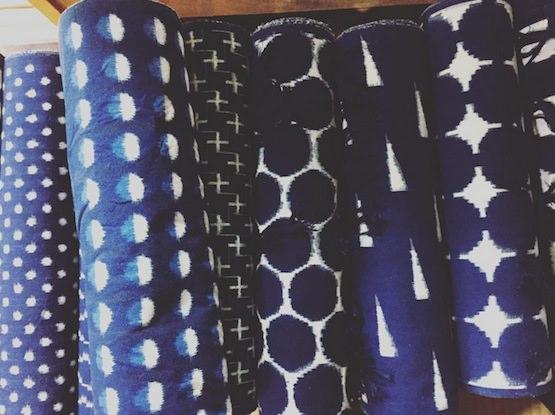 藍染手織 久留米絣