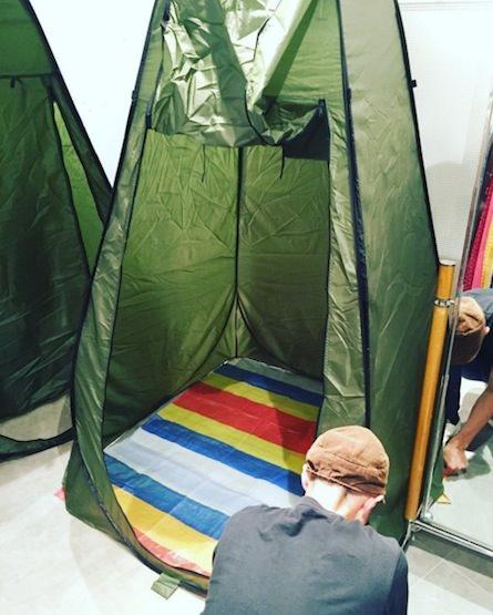 テント試着室