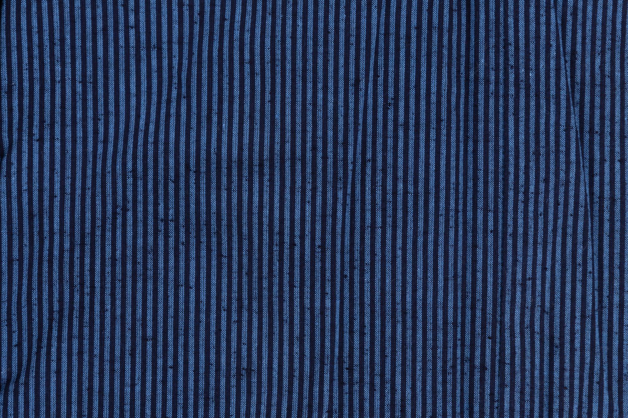 藍調袢天 小縞 2L