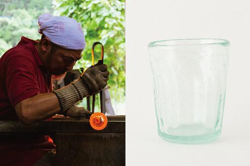 太田潤さんの手吹き再生ガラス