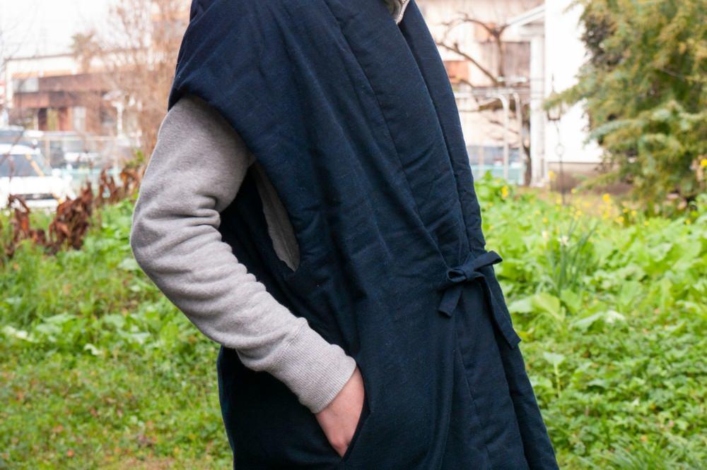 kasumi vest ロングポンチョ