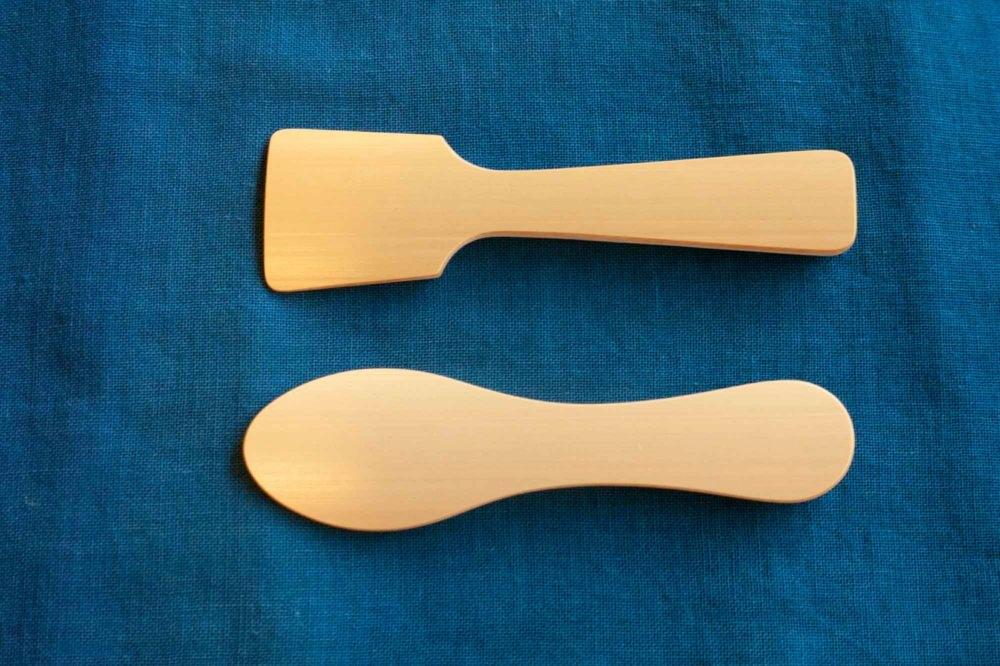 竹のアイスクリームスプーン まる