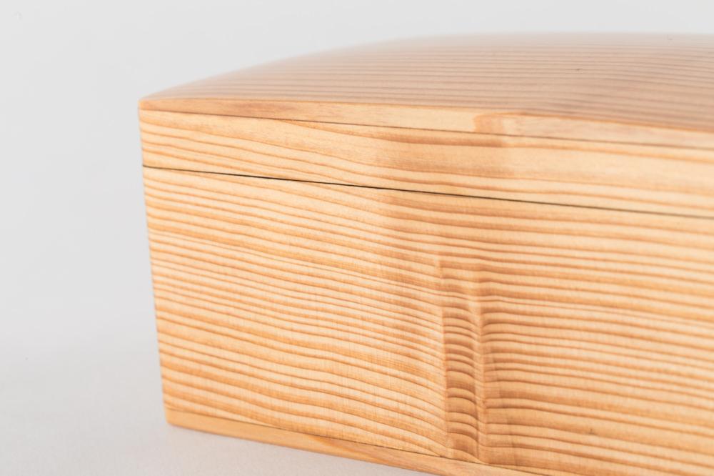 木のお弁当箱 クリア 中