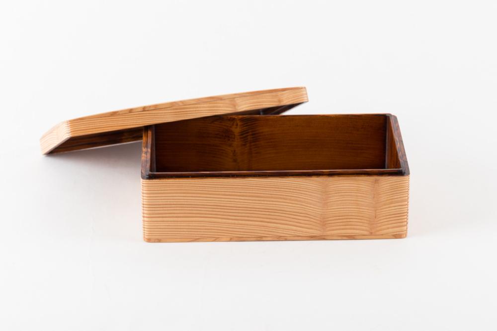 木のお弁当箱 クリア 大