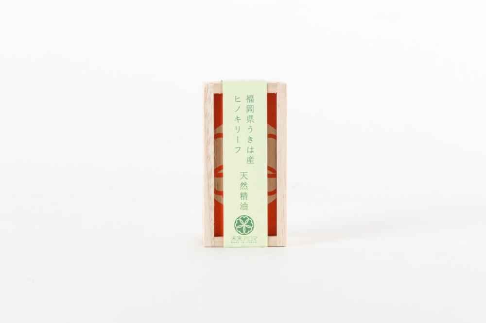 うきは産 ヒノキリーフ 天然精油とデフューザーBOXセット 3ml