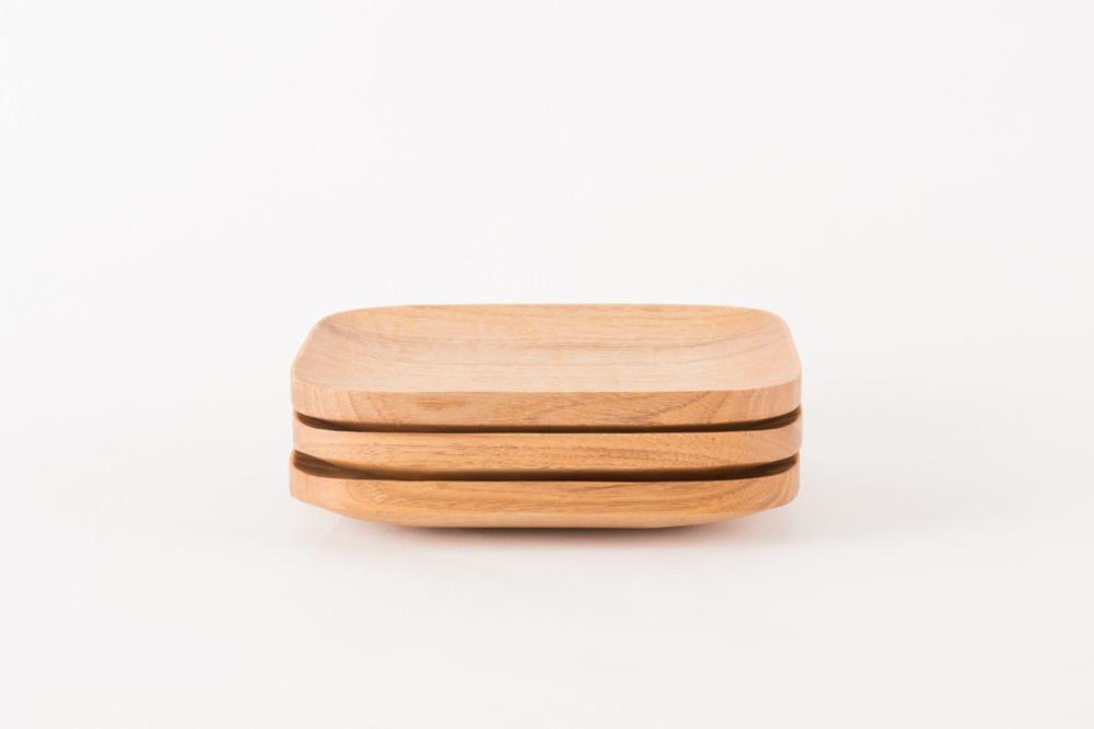 角皿 210 バターナット・くるみ