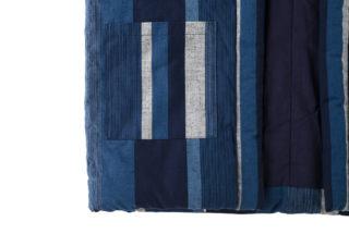 藍調袢天 紺白大縞