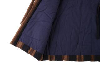 藍調袢天 黒茶縞