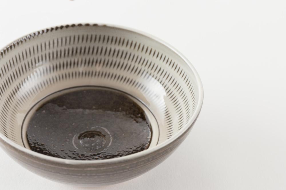 4寸小鉢 飛び鉋 内黒