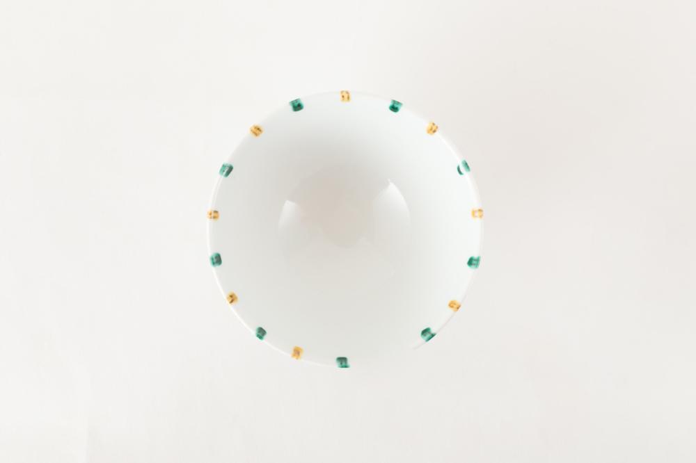 十草色絵飯碗