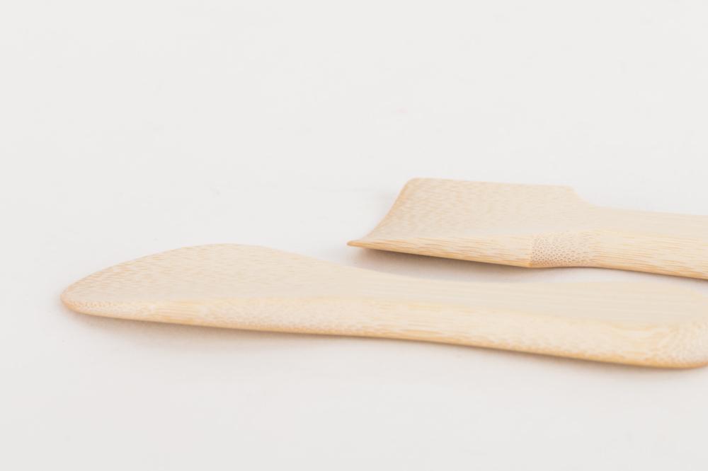 竹のアイスクリームスプーン かく