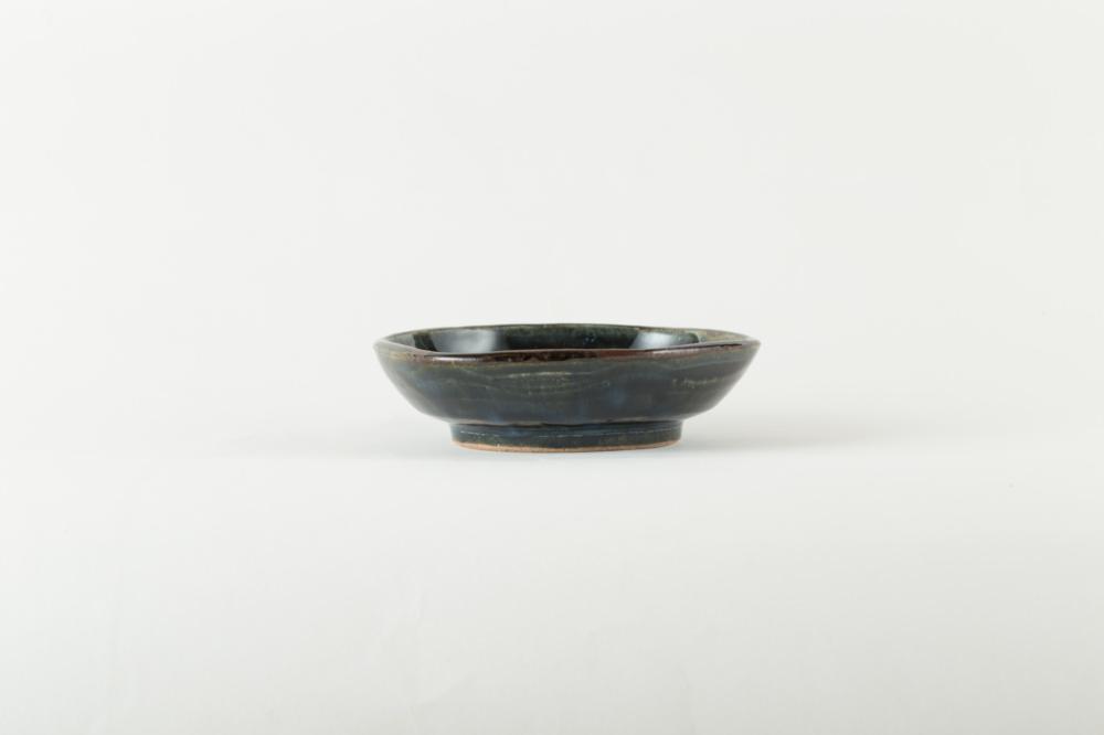 呉須釉 六角皿