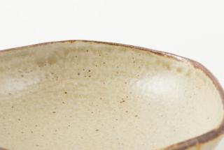 透明いらぼ釉 六角皿