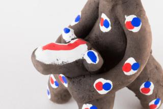 馬乗猿 ミニ 三つ割型烏帽子