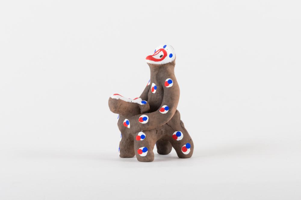 馬乗猿 ミニ 扇型烏帽子