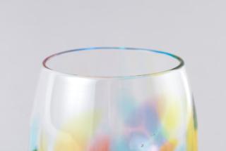 虹色しずく型グラス