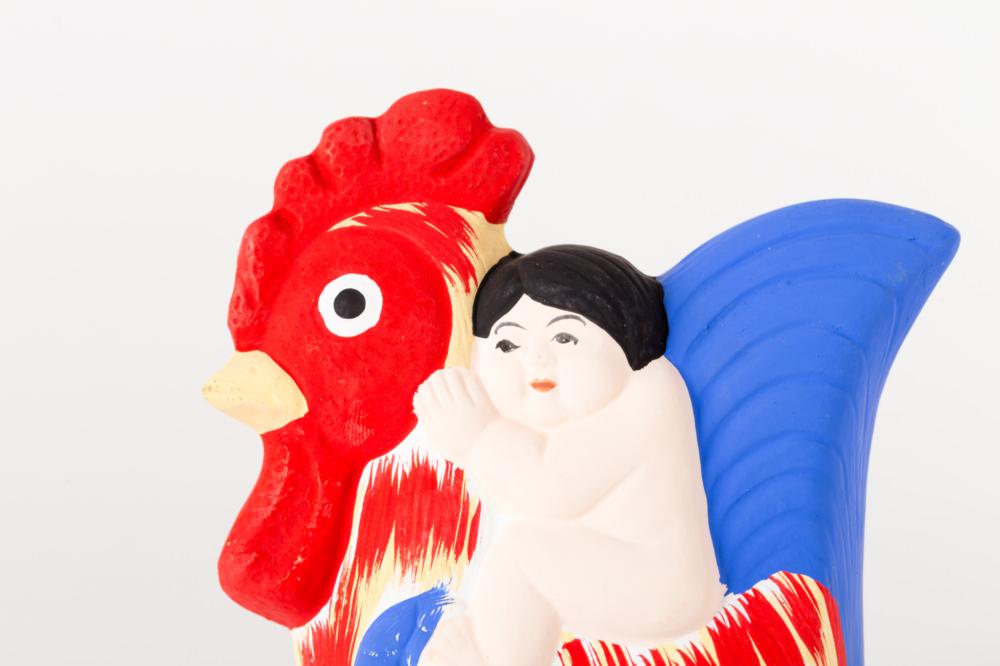 弓野人形 鳥乗り子供