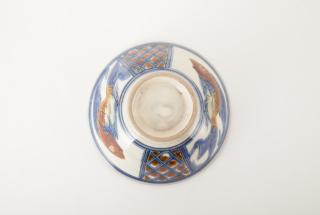 飯マカイ/青釉魚文線彫忠作