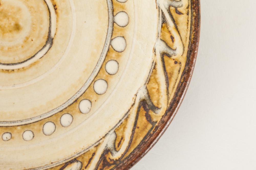 六寸皿 スリップウェア