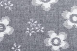久留米絣のためのハンカチ 緯絣 ハナガラ