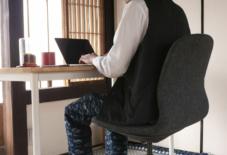 【日々のこと】自宅でお仕事をされる皆さんに、快適なワークウェアとしての久留米絣もんぺ。