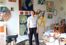 【今日のもんぺ1】八女の美術家 牛島智子さん
