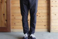 【今日のもんぺ】MONPE Gap Stripe ブラック