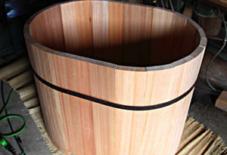 木風呂、鋭意製作中。