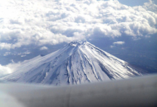 富士山と雲平線