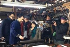 【考えたこと】海を越えた伝統工芸の絣交流、テレビ取材。