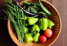 夏野菜収穫とつまみ食い。