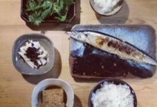 【今日のごはん】サンマなど。/【Today's food】A PACFIC SAURY etc.
