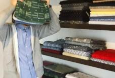 【2階の案内】久留米絣の布切り売り&ハギレ祭り開催