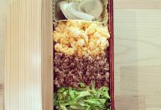 【今日のごはん】三食弁当+カブの漬け物