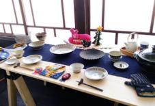 【2F企画展】と【もんぺ型紙ハギレの輪】久留米絣ガールズコレクション!