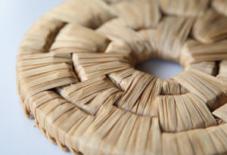 竹皮編みの鍋敷き