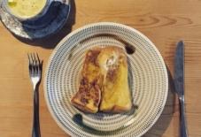 【今日のごはん】フレンチトーストと小石原焼