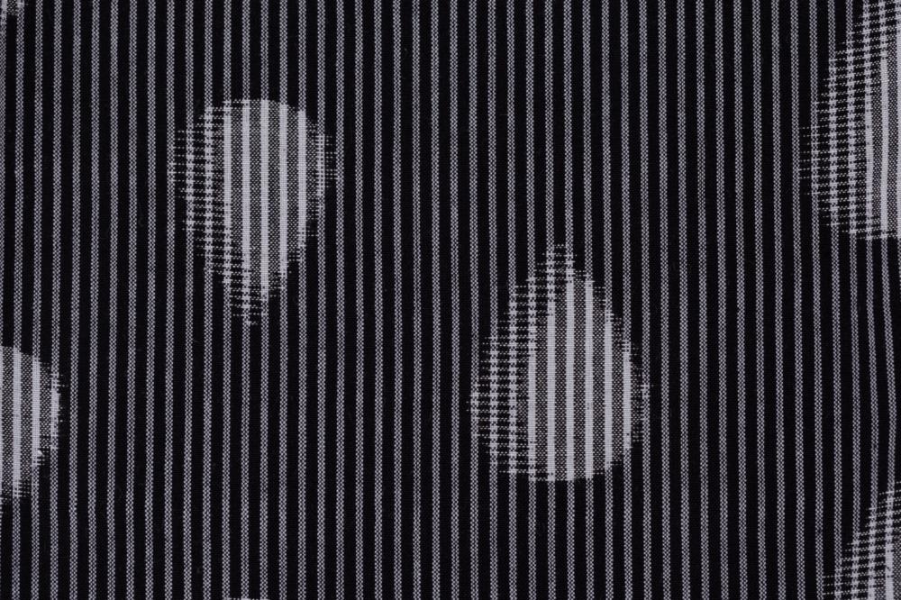 いろはもんぺ 緯絣 二羽縞雫