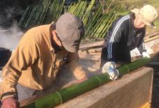 【日々のこと】竹の油抜き
