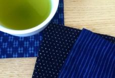【商品紹介】藍染手織りのコースター
