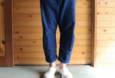 【今日のもんぺ】MONPE 藍染手織り Muji 濃紺