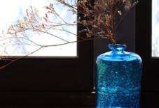 【商品紹介】手吹きガラスの花さし