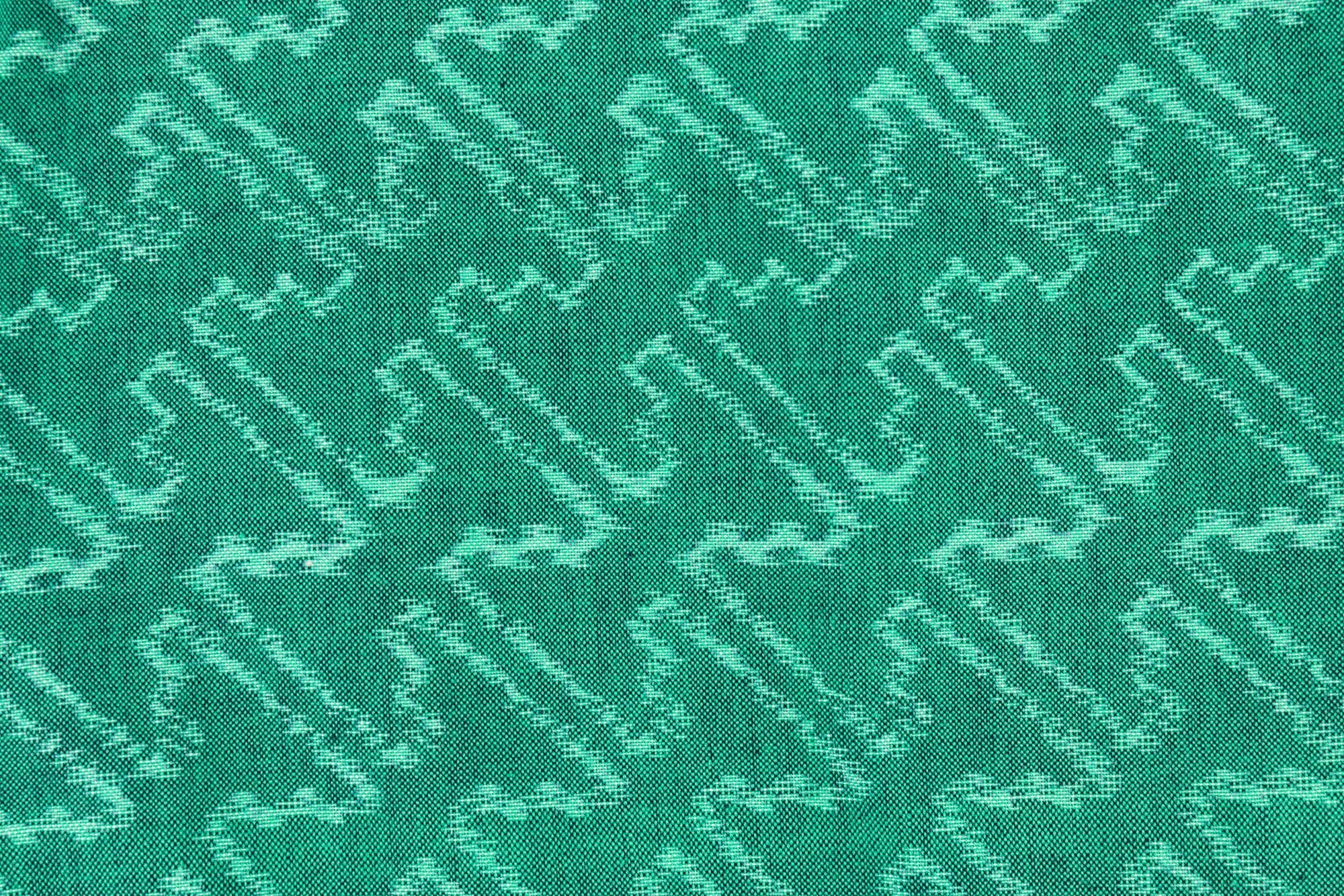 いろはもんぺ 緯絣 糸巻き柄