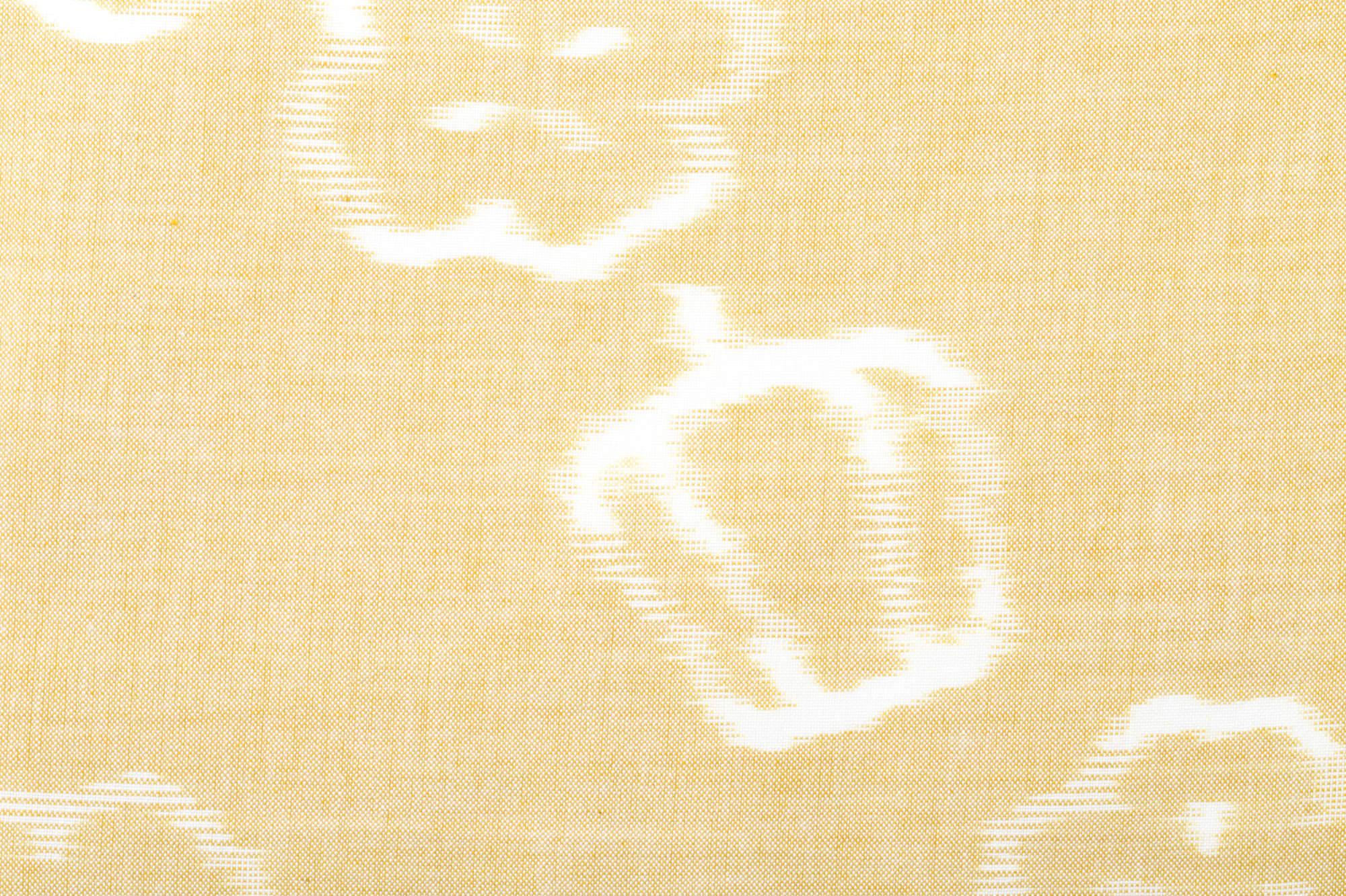 久留米絣のためのハンカチ 緯絣 ピーマン柄