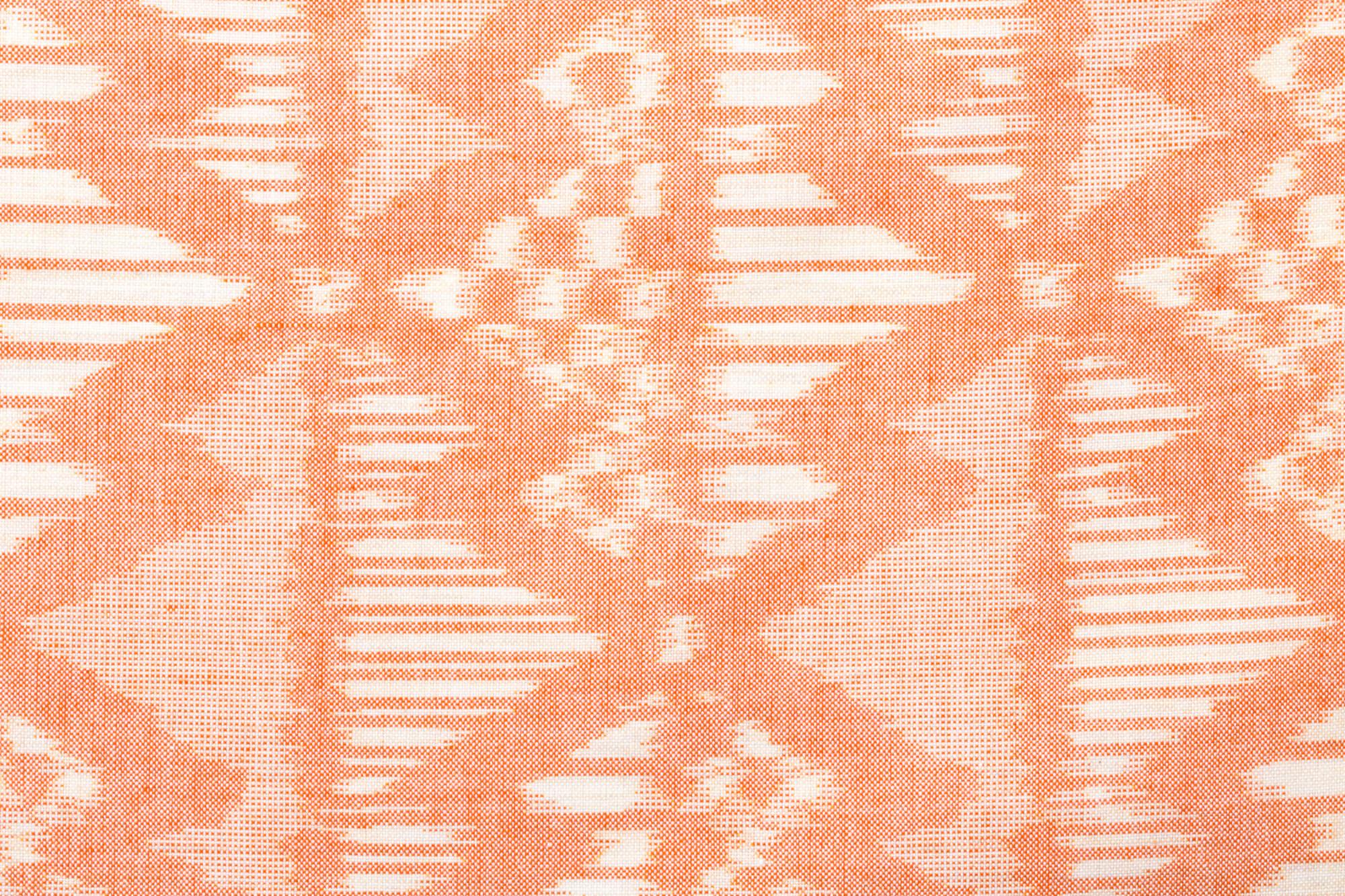 久留米絣のためのハンカチ 緯絣 のこぎり