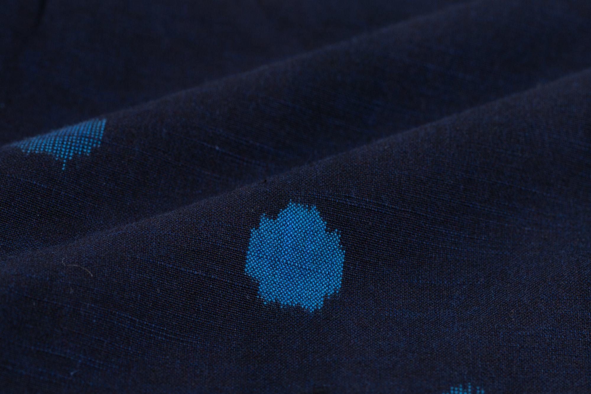 いろはもんぺ 経絣 水玉2種斜並び