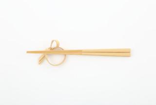 竹の箸置き かぼす型
